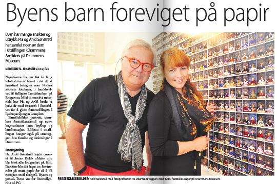 Omtale i Byavisa Drammen i dag