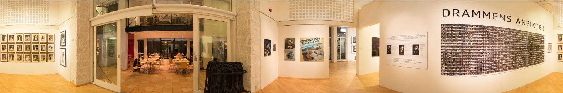 Panorama fra utstillingen på Drammen Museum